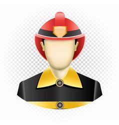 Human template firefighter vector