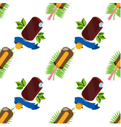 Ice cream lolly seamless pattern for design vector