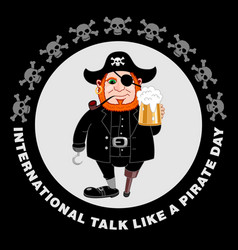 international talk like a pirate day party flyer vector image