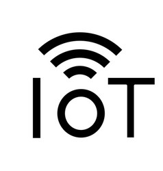 Internet things glyph icon vector