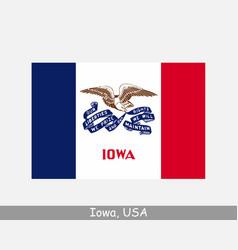 iowa usa state flag ia usa vector image