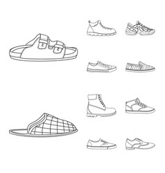 Isolated object of man and foot icon set of man vector