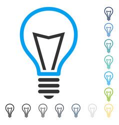 Lamp bulb icon vector