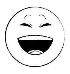 Laugh chat emoticon sketch vector