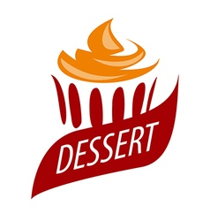 Logo cake with orange cream vector