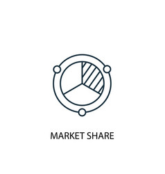 Market share concept line icon simple element vector
