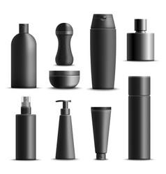Mens cosmetics realistic set vector
