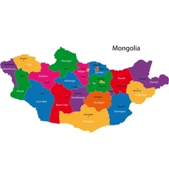 Mongolia map vector