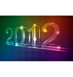 new year 2012 neon card vector image