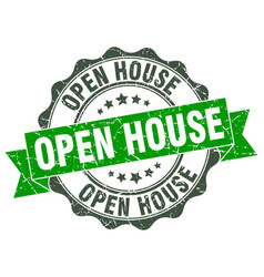 Open house stamp sign seal vector