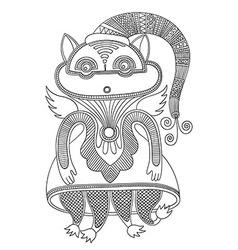 ornate doodle fantasy monster vector image