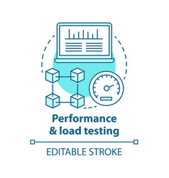 Performance and load testing concept icon vector