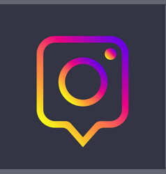 Photo camera icon as social media notification vector