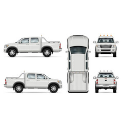 pickup truck on white background vector image