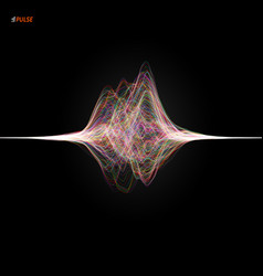 pulsation signal vector image