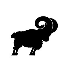 ram farm animal isolated horned sheep beast vector image