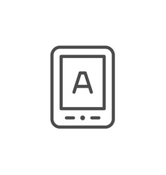 reader device line outline icon vector image