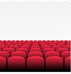 rows red cinema vector image