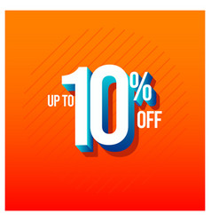 Sale discount up to 10 off set template design vector