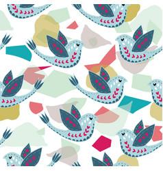 scandinavian birdie pattern design vector image
