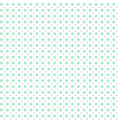 seamless pattern of mint circles vector image
