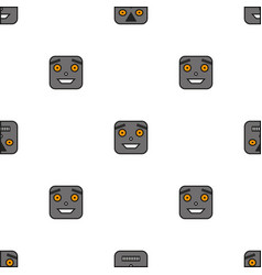 seamless pattern of robots vector image