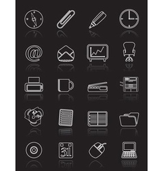 simple office tools icons vector image