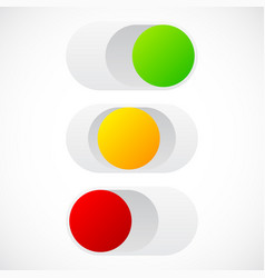 Slider button template in on off standby states vector