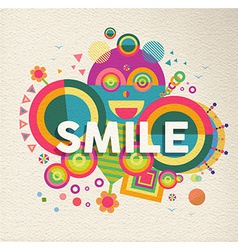 Smile inspirational quote poster design vector