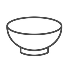 Soup bowl dishware outline art icon for vector