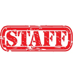 Staff stamp vector image