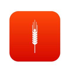 Stalk of ripe barley icon digital red vector