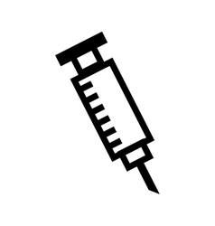 syringe medical isolated icon vector image