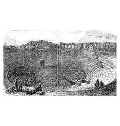 Verona Arena in 1890 in Verona Italy Vintage vector image