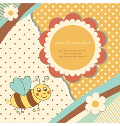 Vintage baby bee vector