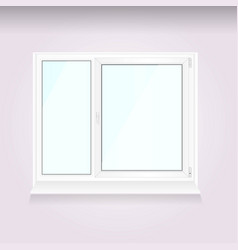 white window frame isolated on white background vector image