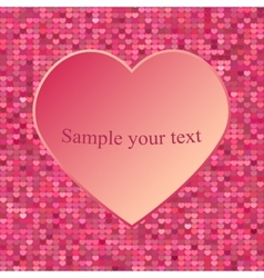 Abstract heart Element for frame vector image