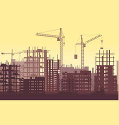 buildings under construction in process urban vector image