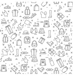 clothes items on white background seamless pattern vector image