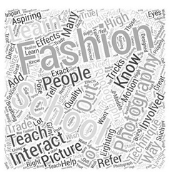 fashion photography schools Word Cloud Concept vector image