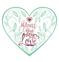 floral spring heart vector image vector image