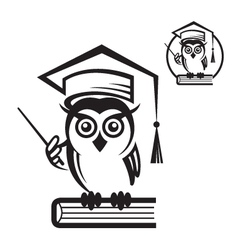 school owl icon vector image