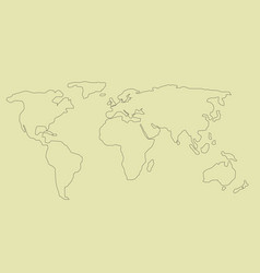 simple world map vector image