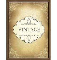 vintage background a4 vector image vector image