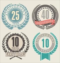 Anniversary laurel wreath vector image