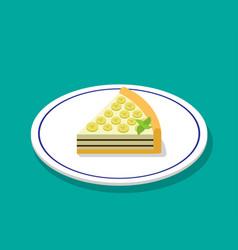 banana cheese cake in 3d cartoon style vector image