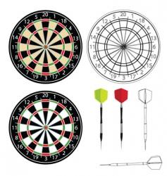 dartboards vector image vector image