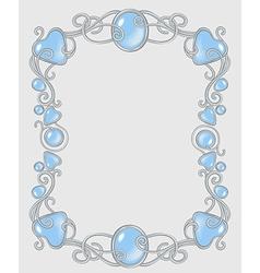 Gemstone frame vector image