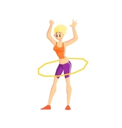 Girl With Hula Hoop vector image vector image
