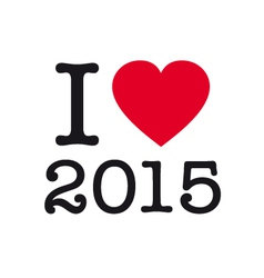i love 2015 vector image vector image